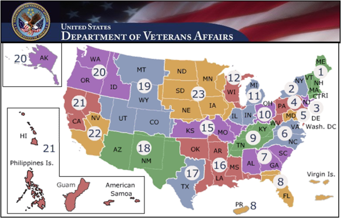 Veterans Affairs Map