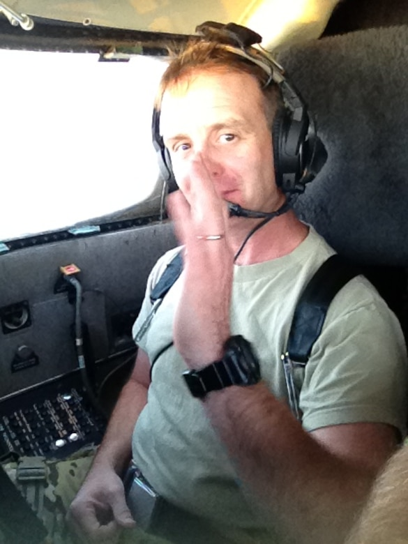 New York Air National Guard Lt. Col. Michael Lawyea, 174th Attack Wing, Syracuse, New York, pilots the RC-26B aircraft as part of the 45th Expeditionary Special Operations Squadron (ESOS). Lt. Col. Lawyea has flown 353 combat missions and 1,421 combat hours from classified locations in support of Operations Iraqi Freedom, New Dawn and Enduring Freedom. (Photo by New York Air National Guard Lt. Col. Michael S. Kem/Released).