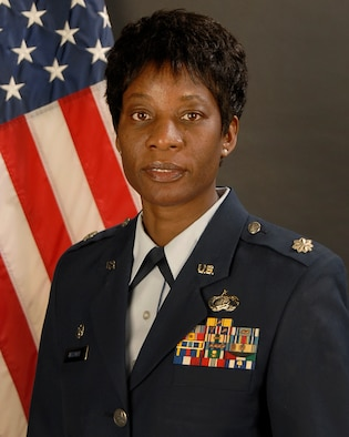 Portrait of Lt. Col. Rita Witmire, the Deputy Commander of the 169th Mission Support Group.
