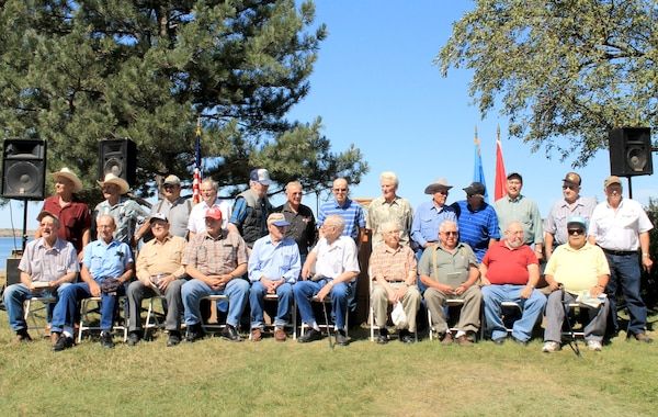 Men who worked during the construction of the Oahe Dam were recognized during and following the ceremony. On Saturday, Aug. 18, the Cultural Heritage Center held reception for them, their spouses and children.