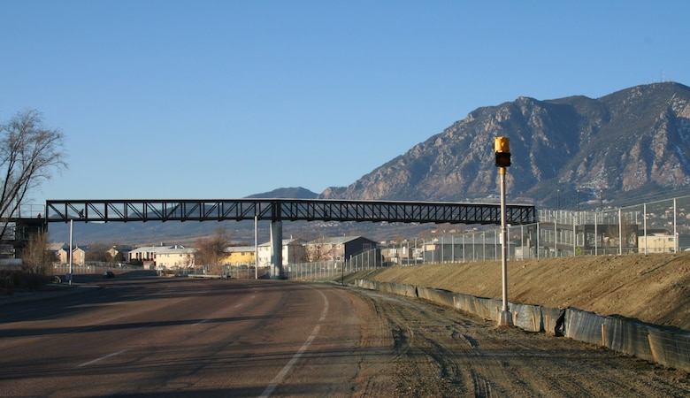 Stratmoor Hills Elementary School students have a new bridge to walk across on their way to and from school. The B Street pedestrian bridge, a U.S. Army Corps of Engineers project part and parcel of the Fort Carson railyard expansion, opened for student business January 20, 2012