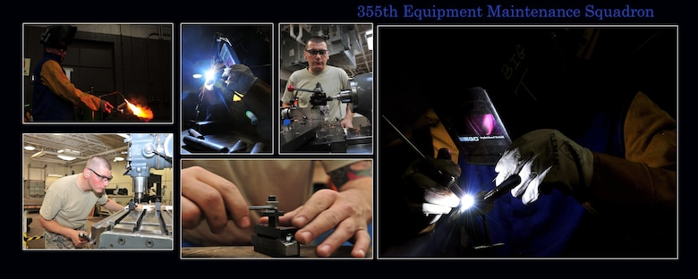 The 355 Equipment Maintenance Squadron is a unified team of five diverse maintenance flights, Aerospace Ground Equipment (AGE) Flight, Armament Flight, Fabrication Flight, Maintenance Flight, and Munitions (AMMO) Flight. We are dedicated to providing world class maintenance support for Davis-Monthan's A-10, C-130, and HH-60 aircraft.