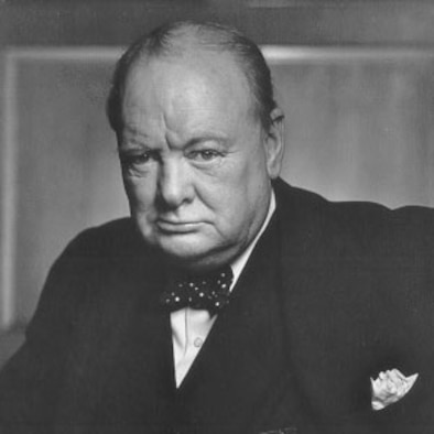 "Winston Churchill was a successfull British Prime Minister throughout the 1940s and 1950s. ""Courage is going from failure to failure without losing enthusiasm."" (File photo)"