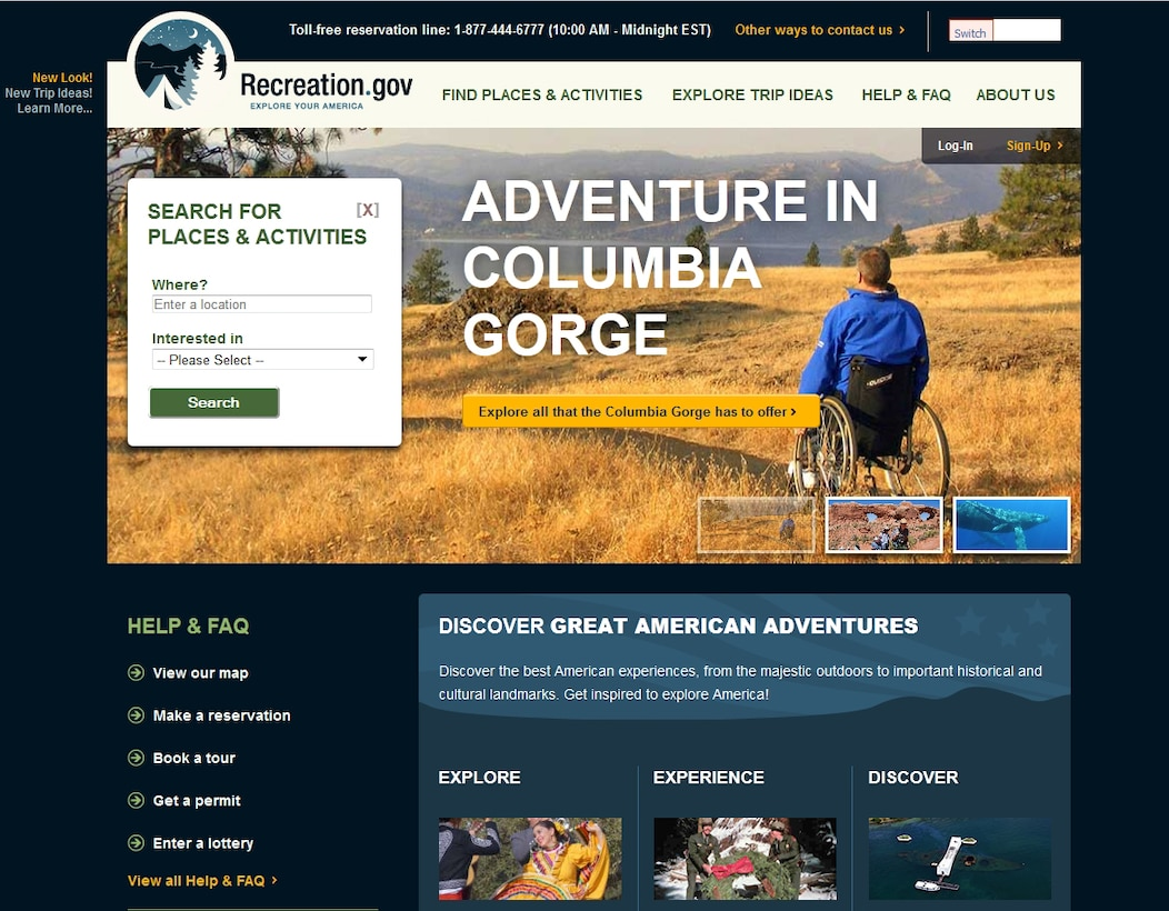 The new look of www.recreation.gov is an initial step in a multi-year strategy to engage visitors with enhanced interactive content among other things.
