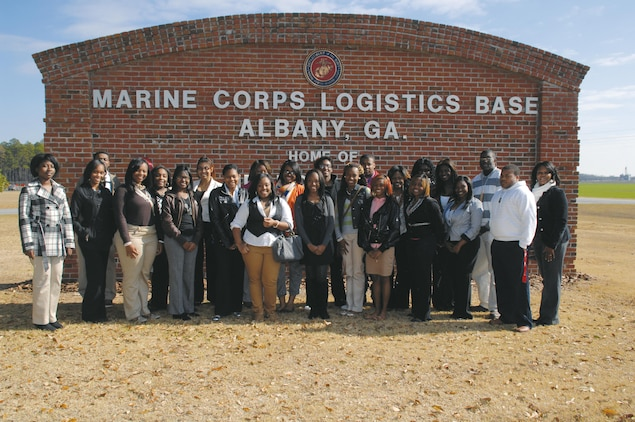 Twenty-four students from Monroe Comprehensive High School, Albany, Ga., were given the opportunity to shadow various occupations at Marine Corps Logistics Base Albany, Nov. 29.
