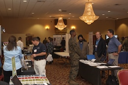 Camp Pendleton service members explore some of the world's latest technology during the semi-annual Technology Expo at the Pacific Views Event Center here Dec. 6.