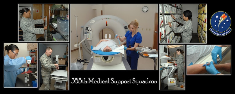 Take a look at the 355th Medical Support Squadron at work.