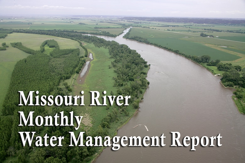 The Missouri River Water Management office releases a report at the beginning of each month to the public documenting the monthly river forecast and release schedule. The Missouri River Water Management Division is part of the Northwestern Division of the U.S. Army Corps of Engineers and is located in Omaha, Nebraska.