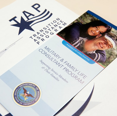 This booklet and brochure were samples of the reading material handed out to attendees during a Transition Assistance Program in the Pentagon, Washington D.C. on December 10, 2012. (U.S. Air Force photo/Andy