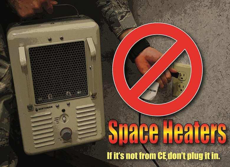 Space Heater Safety Tips Grand Forks Air Force Base Display