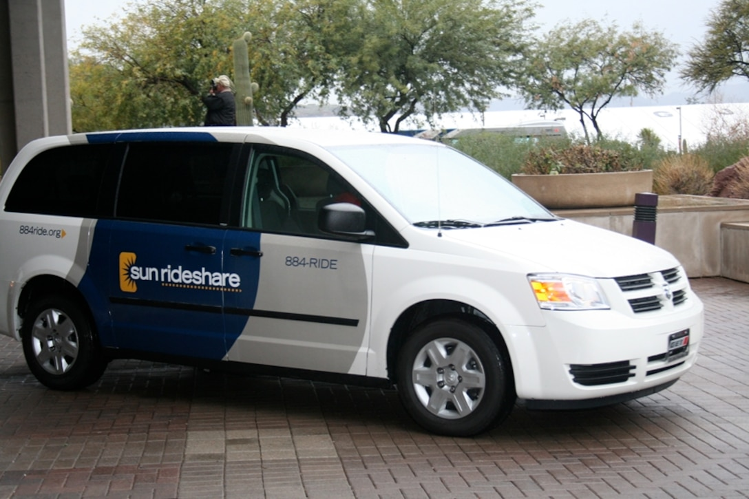 One of many vans in the Vanpool fleet, this 7 passenger van offers an alternative way to get to work each day. (Courtesy photo)