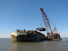 Dredging in a nearby Baltimore District waterway.