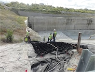 Installation of Reservoir Side-slope Stabilization