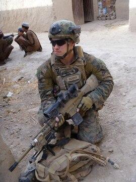 Cpl. David Gerardi in Afghanistan.