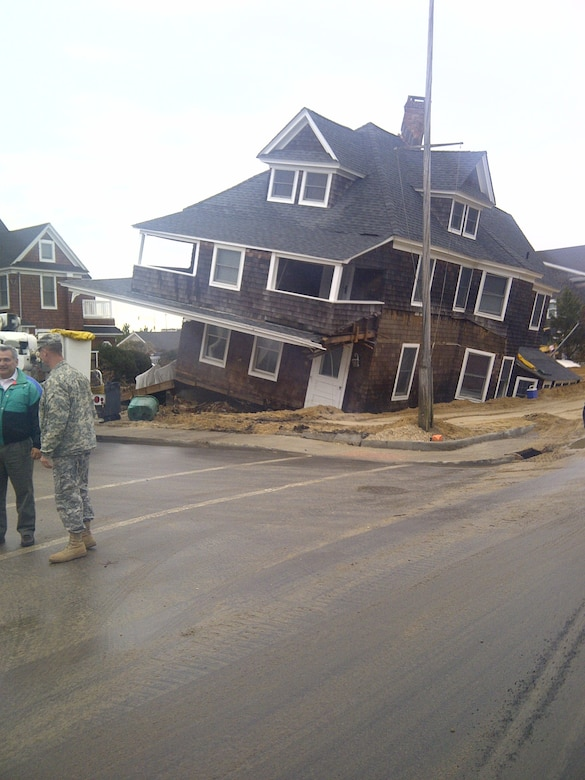 Damage to homes in New Jersey was widespread. The Corps is working with local, state and other federal agencies to find solutions to debris challenges and other issues brought about by the storm. (PHOTO COURTESY COL. ALAN DODD) (Photo by Colonel Alan Dodd)