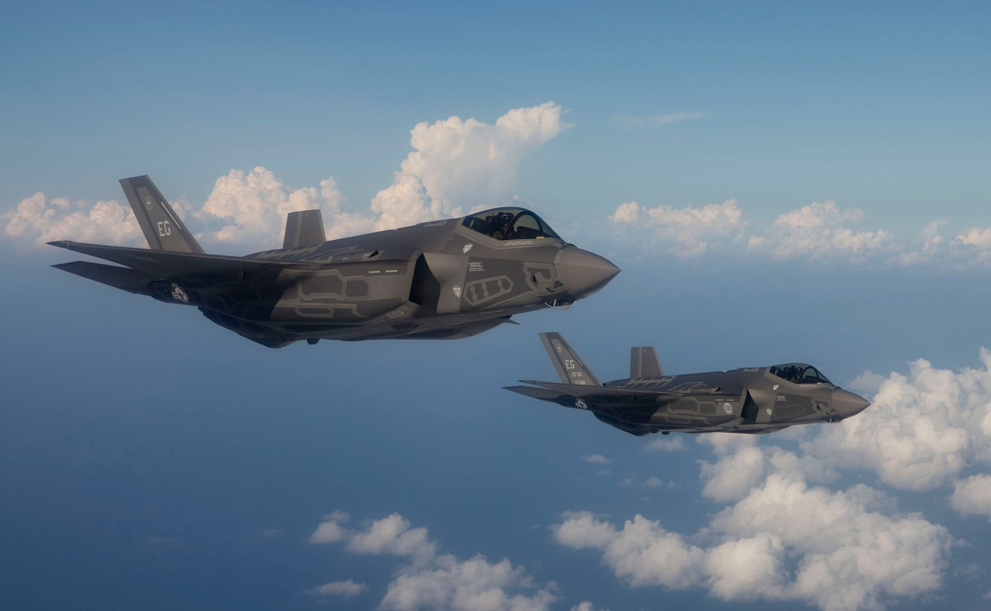 Two F-35 Lightning II joint strike fighter aircraft from Eglin Air Force Base, Fla.(Courtesy photo)