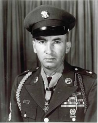Pvt. Wilburn K. Ross after receiving the Medal of Honor in 1945. (Courtesy photo)