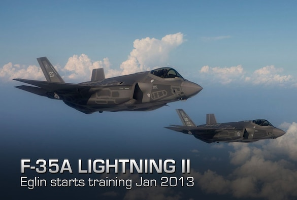 Following an independent evaluation of Eglin's capability to conduct F-35A Lightning II pilot training, Air Education and Training Command announced Dec. 17 that the 33rd Fighter Wing can do so starting January 2013. Pictures here are two F-35 Lightning II joint strike fighter aircraft from Eglin Air Force Base, Fla.( (Courtesy photo