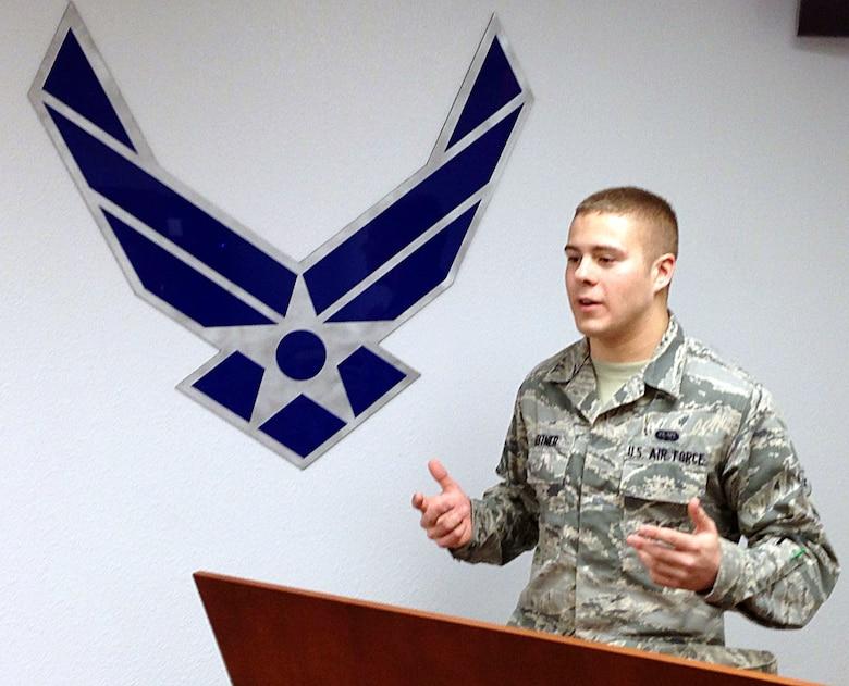 Desert Lightning Team's Weekly Warrior Airman 1st Class William Leitner