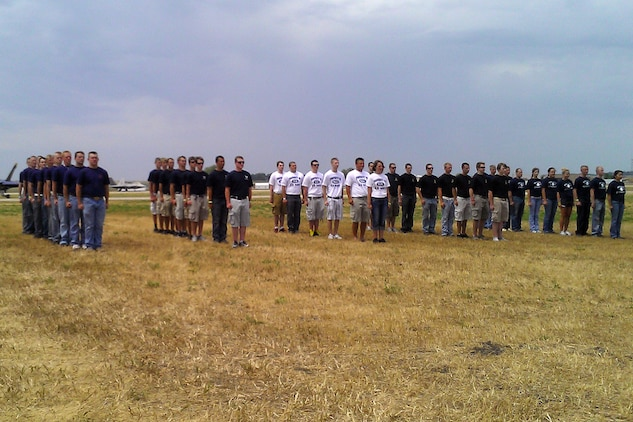 More than 85 men and women took the oath of enlistment at the 2012 Sioux Falls Airshow during a swear-in ceremony July 21-22. Sixteen enlisted into the Marine Corps out of Recruiting Station Twin Cities' Sioux Falls, S.D., office.