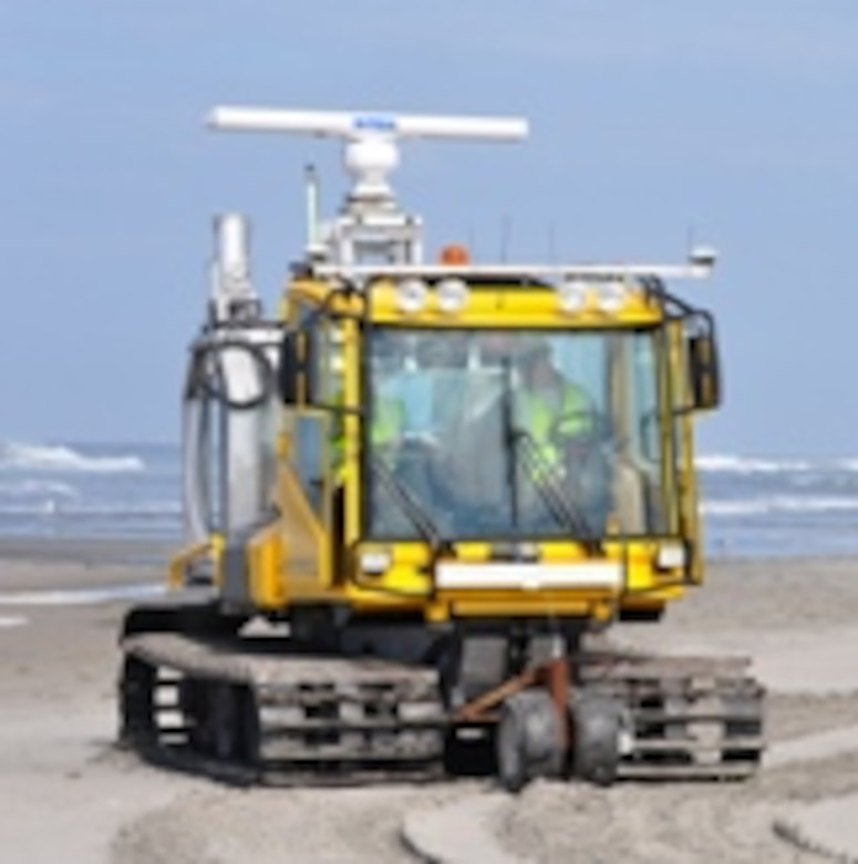 CLARIS is deployed on a tracked-vehicle that can successfully navigate debris-laden and inundated beaches. Its added height decreases problems of radar shadowing in the far range from irregular beach topography, such as high berms or beach cusp horns.