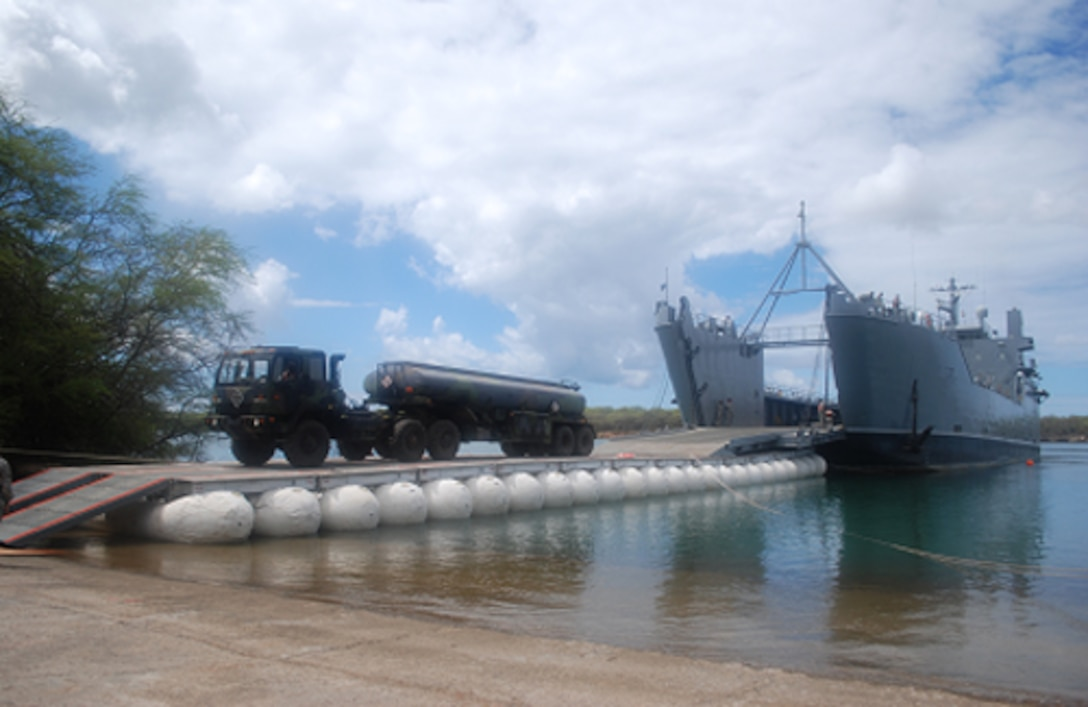 LMCS used in Vessel to Shore Bridging Mode at Pearl Harbor Austere Site (2008).