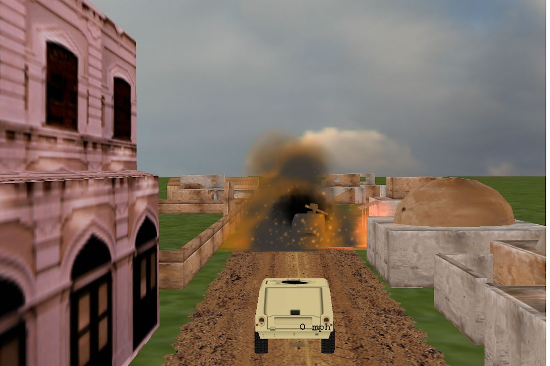 SAVE-CT driving simulations recreate road and environment conditions in combat zones.