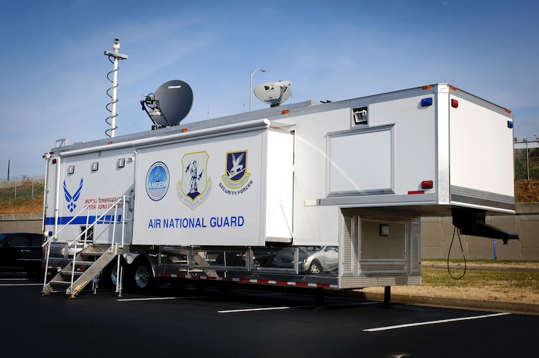 The Kentucky Air National Guard's 123rd Civil Engineer Squadron received a state-of-the-art Mobile Emergency Operations Center on Nov. 27, 2012. The $750,000 MEOC will enhance the Louisville, Ky.-based unit's ability to support civilian emergency responders following a catastrophe in the United States. (U.S. Air Force photo by Staff Sgt. Maxwell Rechel)