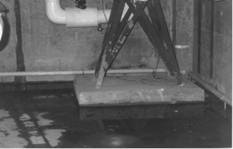 Wet basement before EOP Treatment