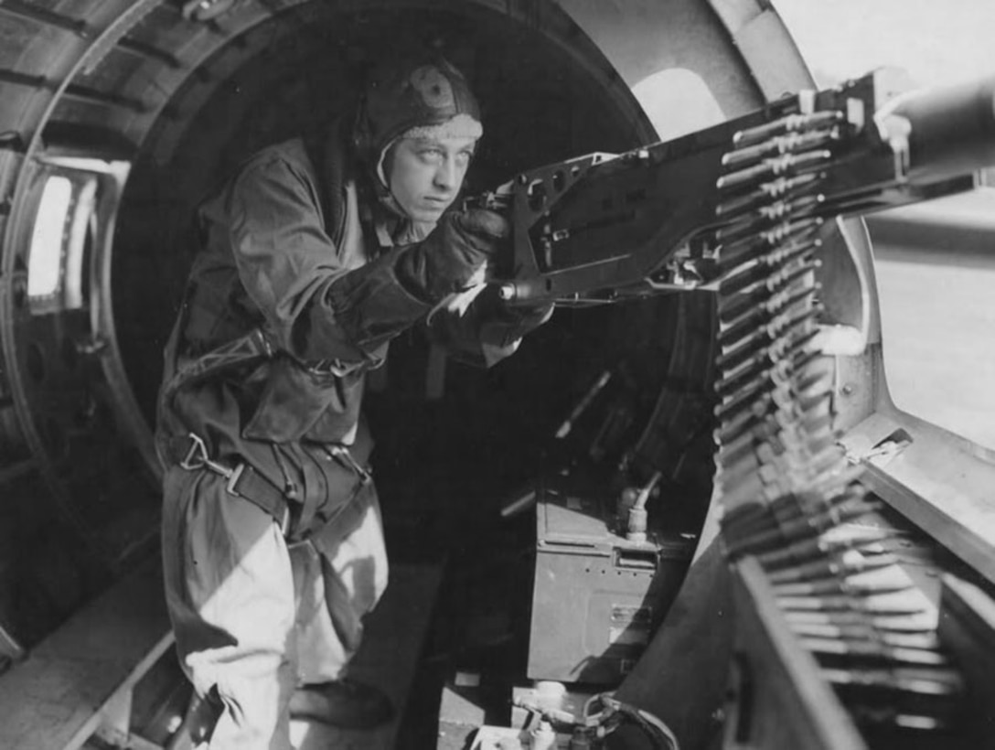 Maynard Smith, above, chose to be an aerial gunner because it was the quickest way to make rank. (U.S. Air Force file photo)