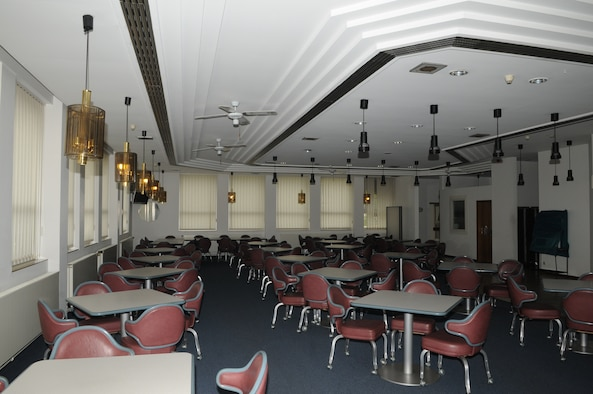 SPANGDAHLEM AIR BASE, Germany – The Mosel Dining Facility's seating area here could fit 180 patrons before its closure in August 2010. When the facility closed for renovations to the cold-storage space, base engineers used the closure time to upgrade the serving line, foot-traffic pattern and seating area. Now, the DFAC has enough seating for 236 customers. (U.S. Air Force photo/Senior Airman Nick Wilson)