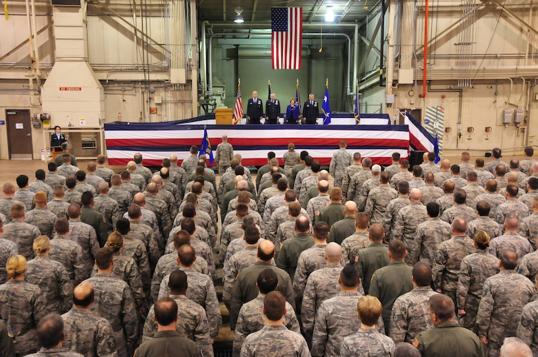 The 171st Air Refueling Wing hosts a change of command ceremony Sunday, Feb. 5.  Col. Anthony J. Carrelli accepts command of the 171st Air Refueling Wing from Brig. Gen. Roy Uptegraff who served as the unit's wing commander since 2006. Maj. Gen. Stephen Sischo, commander of the Pennsylvania Air National Guard, is the official host of the ceremony and is joined by distinguished military officials and community leaders. (National Guard photo by Master Sgt. Ann Young/Released)