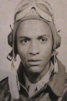 Tuskegee Airman James Bowman poses for a photograph on the occasion of his graduation from the Tuskegee Institute, Tuskegee, Alabama in January, 1945.  Photo courtesy of the Iowa Gold Star Military Museum, Camp Dodge, Iowa.  (US Army Air Corps photo/Unknown)(Released)