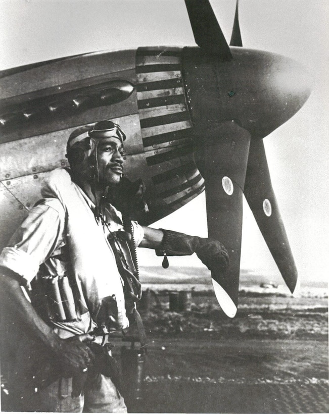 "Lt.Col. Lee Archer: Tuskegee Airman. He and his unit were brought to life in the George Lucas film ""Red Tails."""