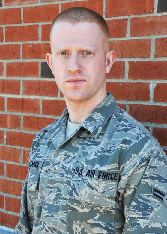Airman 1st Class Jared Callaham was selected as the Airman of the Year for the 906 ARS. Airman 1st Class Callaham is metals technology apprentice with the 906th and received this award in part for his creativity and talents in redesigning and fabricating systems to save money and increase safety, his dedication to learning and excellence, and his commitment to the local community through Habitat for Humanity efforts. (U.S. Air Force photo by Master Sgt. Ken Stephens)
