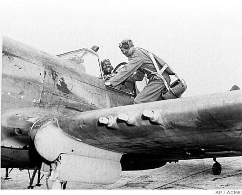 Benjamin O. Davis Jr. commanded the 332nd Fighter Group during World War II.