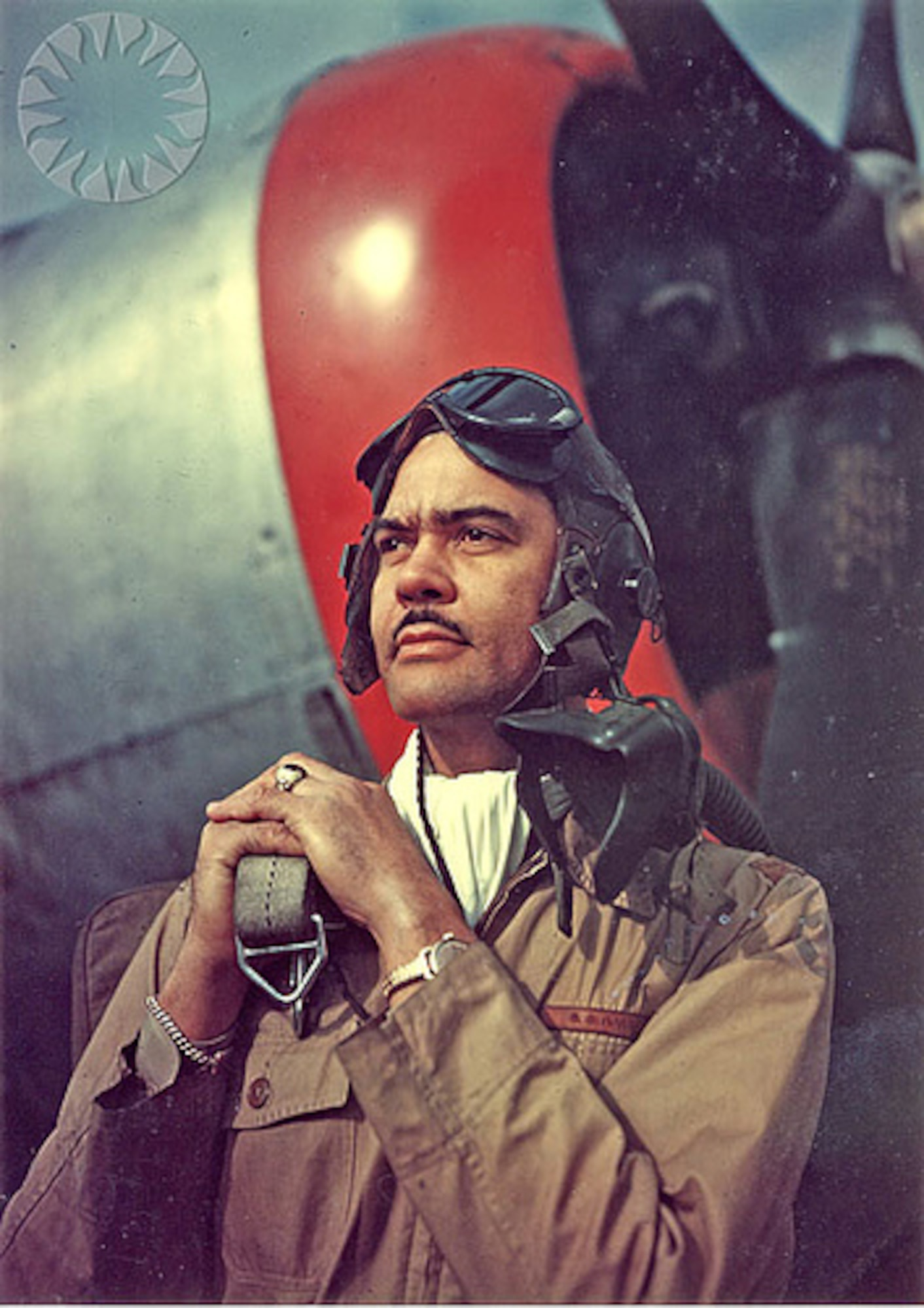 """Benjamin O. Davis Jr.: Commanded """"Red Tails,"""" an all-black combat flying squadron during World War II."""