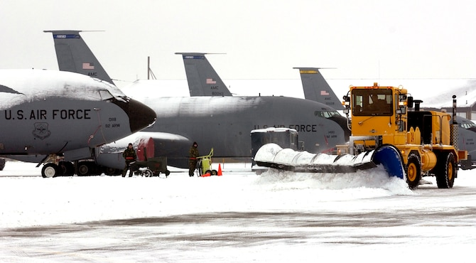 Snow Plow Air Intake : Fairchild s snow removal crews honored by af for th time