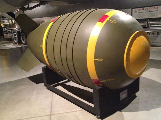 Mark VI Aerial Bomb on display at the National Museum of the U.S. Air Force. (U.S. Air Force photo)