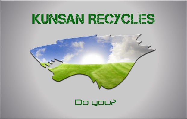 Kunsan Recycles, do you? (U.S. Air Force graphic/ Senior Airman Jessica Hines)