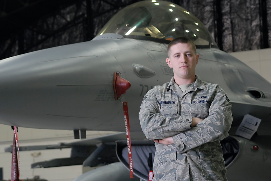 Senior Airman Christopher Niederhauser, 36th Aircraft Maintenance Unit. (U.S. Air Force photo/Tech. Sgt. Eric Petosky)
