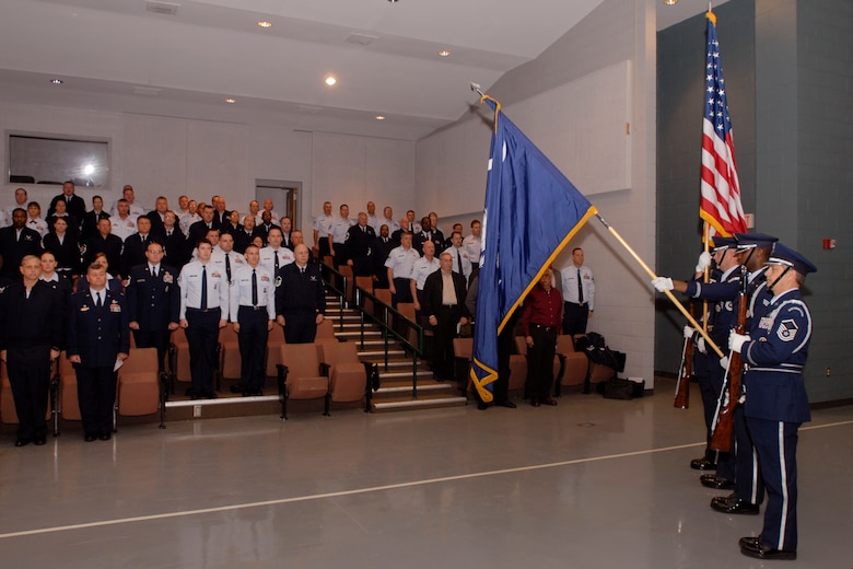 Honor Guard.  Members of the 169th Fighter Wing and the South Carolina Air National Guard, from McEntire Joint National Guard Base, conducts its first Top 3 Conference in six years.  The focus of this conference was the mentoring of airmen and their professional development.  Instructors from the Paul H. Lankford Enlisted Professional Military Education Center at McGhee Tyson Air National Guard Base conducted courses of instruction to the more than 120 senior NCOs in attendace of this three-day conference.  The conference was held at the nearby SC National Guard's McGrady Training Center to minimize travel and conference costs while still maintaining an off-site focus.   (SCANG photo by SMSgt. Edward Snyder)