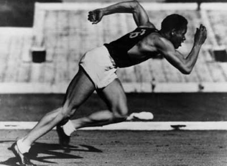 Archie Williams at the 1936 Olympics in Berlin