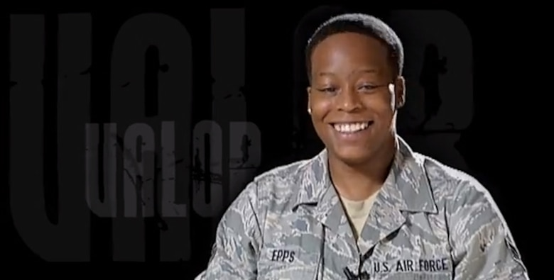 Air Force photographer Chanise Epps