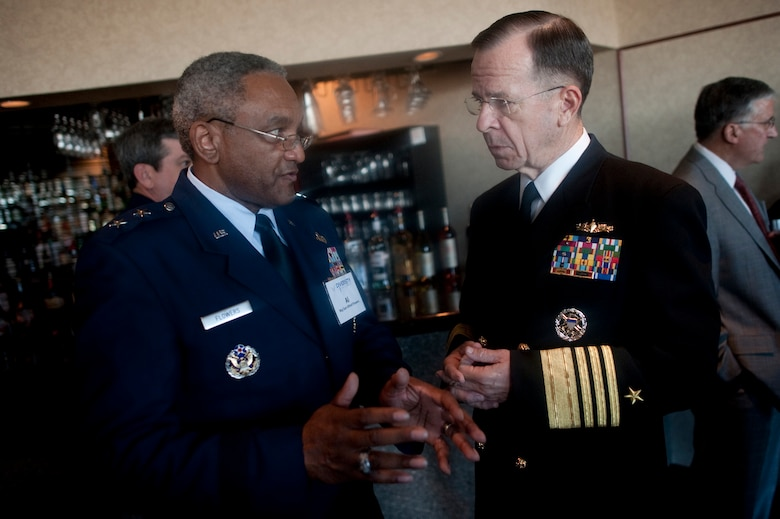 Maj. Gen. Alfred K. Flowers with chairman of the Joints Chief of Staff, Adm. Mike Mullen