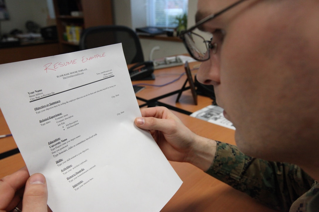 Service members transitionaling out of the military who need help finding a new career or path can attend a job fair preparation workshop, which will be hosted by Marine Corps Community Services at the Russell Marine and Family Services Center aboard Marine Corps Base Camp Lejeune, from 1 to 4 p.m., tomorrow.