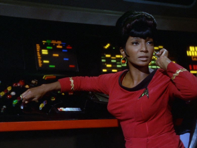 Nichelle Nichols as Lt. Uhura on the original Star Trek did much to recruit African-Americans into the NASA space program