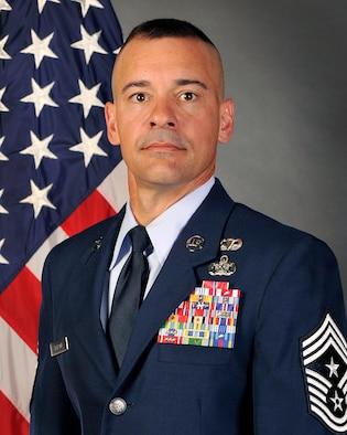 Chief Master Sgt. Mark D. Marson, 18th Wing Command Chief.