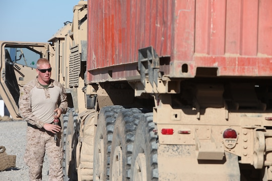 Motor Transport Marines Supply Multiple Bases 1st Marine