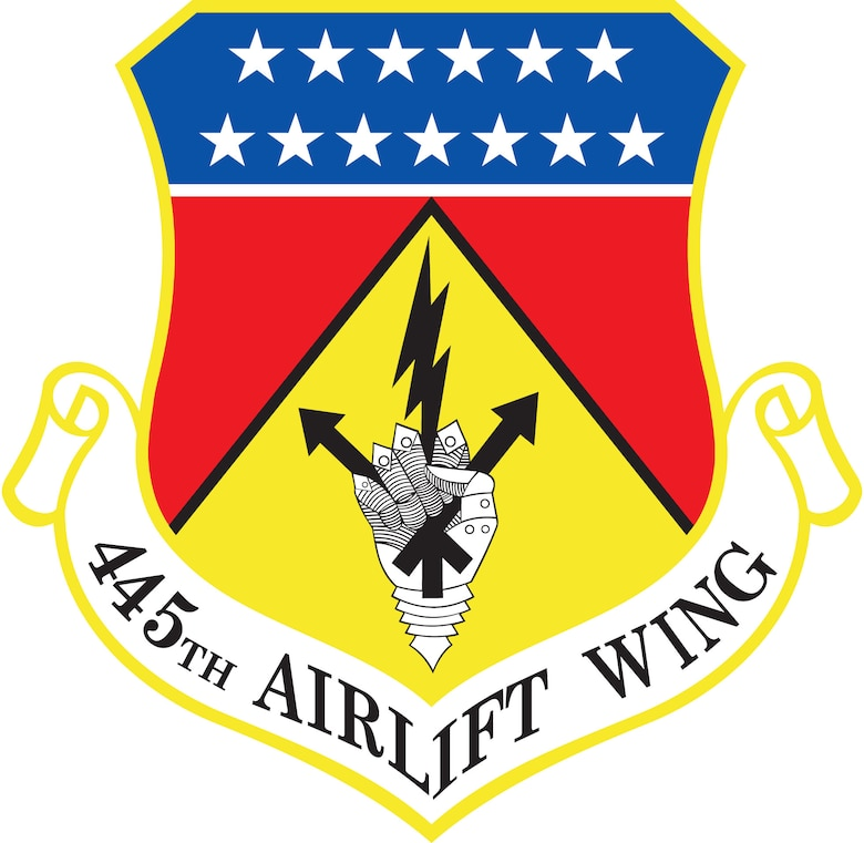 445th Airlift Wing unit shield